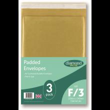 Diamond Value F Padded Bubble Envelopes 3pk