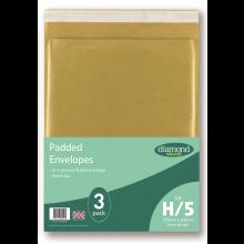 Diamond Value H Padded Bubble Envelopes 3pk