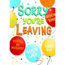 Greetings Cards Sorry You Are Leaving