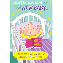 Cards Cherry Orchard ML377 New Baby C75