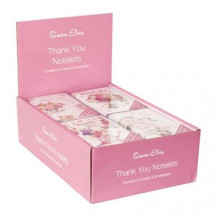 8 Floral Thank You Notelets N630