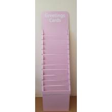 Cardboard Card Stand 12 Tier 1.5' Pink