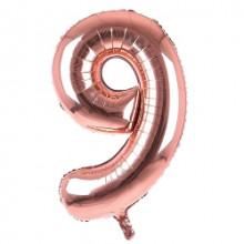 "34"" Rose Gold Number 9 Foil Balloon"