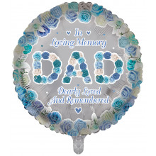 "18"" Remembrance Foil Balloon Dad Round"