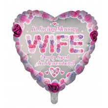 "18"" Remembrance Foil Balloon Wife Heart"