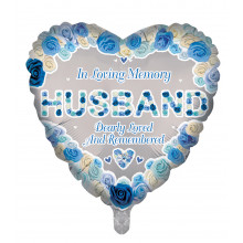 "18"" Remembrance Foil Balloon Husband Heart"