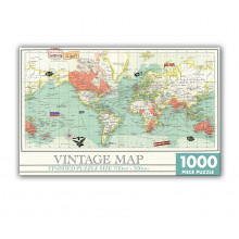1000pc Jigsaw Puzzle Vintage Map