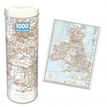 1000pc Jigsaw Puzzle In A Tin Vintage British Isles Map