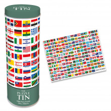 1000pc Jigsaw Puzzle In A Tin World Flags