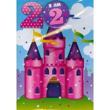 Planet Happy Cards PH202 Age 2 Girl Badge