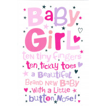 Cards Word Play 23950 Baby Girl