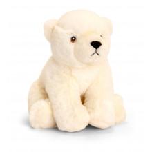18cm Keeleco Polar Bear Soft Toy