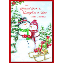 Son+Daughter-I-Law Cute 60 Christmas Cards