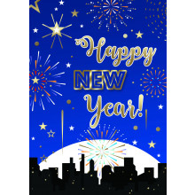 New Year Modern 50 Christmas Cards