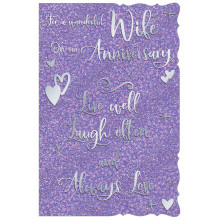 Cards TWP19013 Code 75 Wife Anniversary