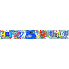 2.5m Party Banner Age 5 Boy