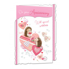 Cards WP19045 Code 75 Your Anniversary 3 Fold