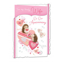 Cards WP19048 Code 75 Wife Anniversary 3 Fold