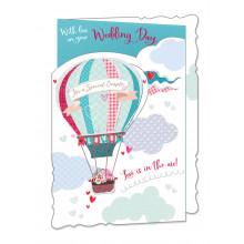 Cards WP19055 Code 75 Wedding Day 3 Fold