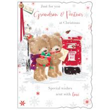 Grandson+Partner Cute 50 Christmas Cards