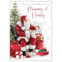 Mummy & Daddy 50 Xmas Card