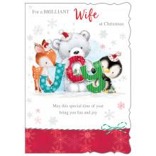 Wife Cute 50 Christmas Cards