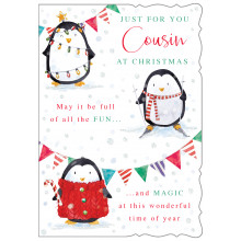 JXC0807 Cousin Fem Cute 50 Christmas Cards