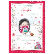 JXC0802 Sister Cute Christmas Cards