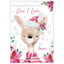 JXC0815 One I Love Female Cute 50 Christmas Cards