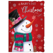 JXC0830 Baby's 1st Girl Christmas Cards