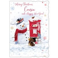 Cousin Male Cute 50 Christmas Cards
