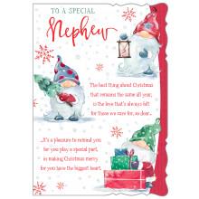 JXC0806 Nephew Cute 50 Christmas Cards