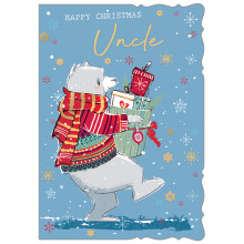 JXC0805 Uncle Cute 50 Christmas Cards
