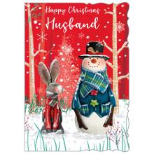 JXC0792 Husband Cute Christmas Cards