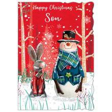 JXC0798 Son Cute 50 Christmas Cards