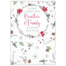 Brother+Family Trad 50 Christmas Cards