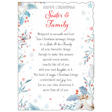Sister+Family Trad 50 Christmas Cards