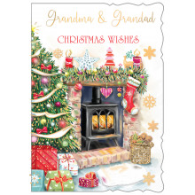 Grandma+Grandad Trad 50 Christmas Cards