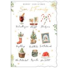 Son+Family Trad 50 Christmas Cards