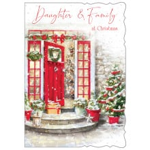 Daughter+Family Trad 50 Christmas Cards