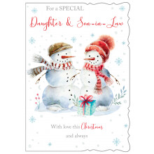 Daughter+Son-I-Law Cute 50 Christmas Cards
