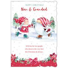 Nan+Grandad Cute 50 Christmas Cards