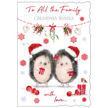 JXC0827 To All Family Ct Christmas Cards