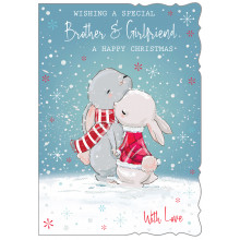 JXC0821 Bro+G/Fr Cute Christmas Cards