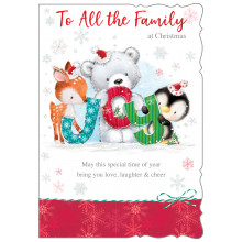 To All The Family Cute 50 Christmas Cards