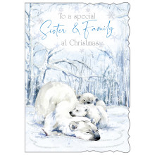 JXC0819 Sister + Family Cute Christmas Cards
