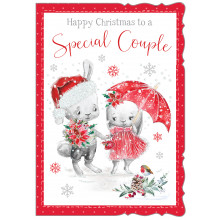 JXC0826 Sp.Couple Cute Christmas Cards