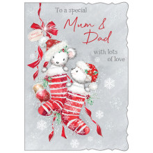 Mum+Dad Cute 50 Christmas Cards