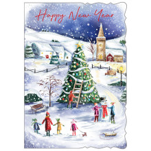 New Year Trad 50 Christmas Cards