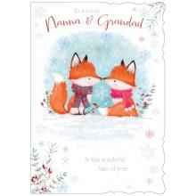 Nanna+Grandad Cute 50 Christmas Cards